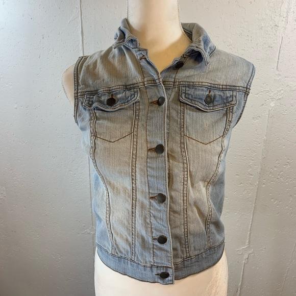 Xhilaration Jackets & Blazers - Xhileration Denim Vest